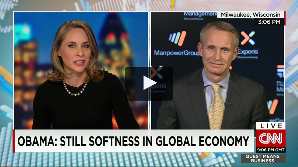 ManpowerGroup Jonis Prising on CNN