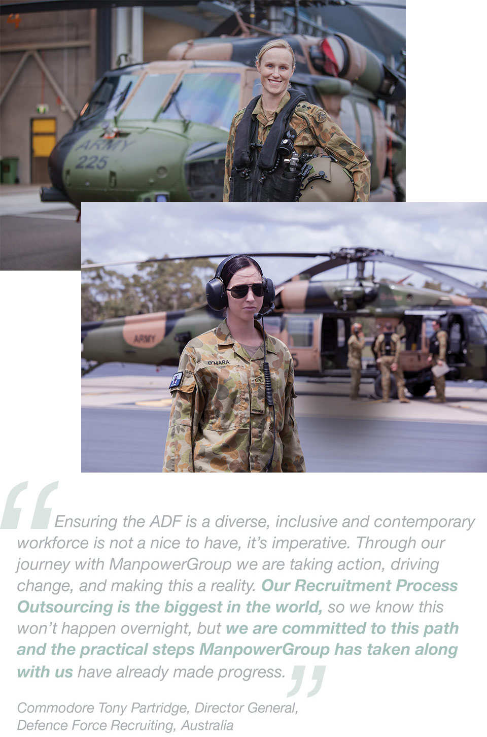 ManpowerGroup Sustainability Australian Defense Force